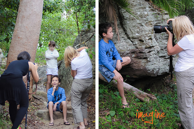 sydney family photography behind the scenes